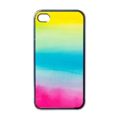 Watercolour Gradient Apple iPhone 4 Case (Black)