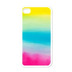 Watercolour Gradient Apple iPhone 4 Case (White)