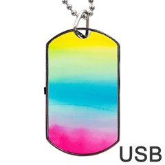 Watercolour Gradient Dog Tag USB Flash (One Side)