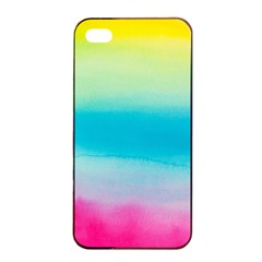 Watercolour Gradient Apple iPhone 4/4s Seamless Case (Black)
