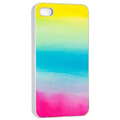 Watercolour Gradient Apple iPhone 4/4s Seamless Case (White)