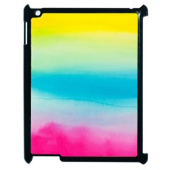 Watercolour Gradient Apple iPad 2 Case (Black)