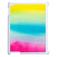 Watercolour Gradient Apple iPad 2 Case (White)