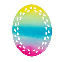 Watercolour Gradient Ornament (Oval Filigree)