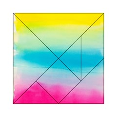 Watercolour Gradient Acrylic Tangram Puzzle (6  x 6 )