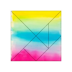 Watercolour Gradient Acrylic Tangram Puzzle (4  x 4 )