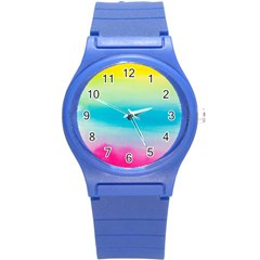 Watercolour Gradient Round Plastic Sport Watch (S)