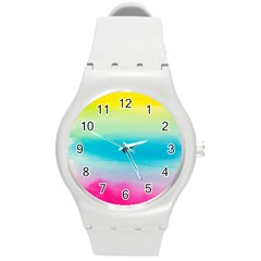 Watercolour Gradient Round Plastic Sport Watch (M)