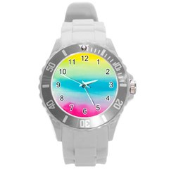 Watercolour Gradient Round Plastic Sport Watch (L)