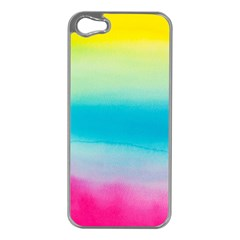 Watercolour Gradient Apple iPhone 5 Case (Silver)