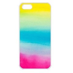 Watercolour Gradient Apple iPhone 5 Seamless Case (White)