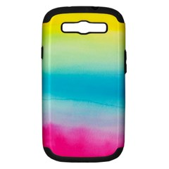 Watercolour Gradient Samsung Galaxy S III Hardshell Case (PC+Silicone)