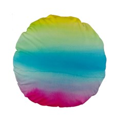 Watercolour Gradient Standard 15  Premium Round Cushions