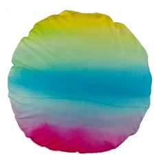 Watercolour Gradient Large 18  Premium Round Cushions