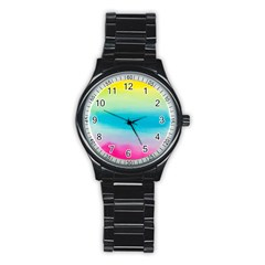 Watercolour Gradient Stainless Steel Round Watch