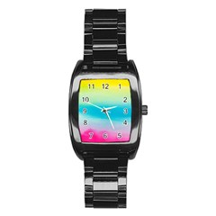 Watercolour Gradient Stainless Steel Barrel Watch