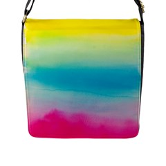 Watercolour Gradient Flap Messenger Bag (L)