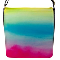 Watercolour Gradient Flap Messenger Bag (S)