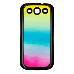 Watercolour Gradient Samsung Galaxy S3 Back Case (Black)