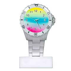 Watercolour Gradient Plastic Nurses Watch