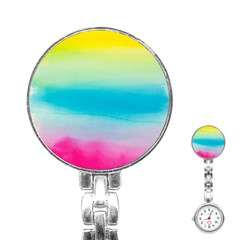 Watercolour Gradient Stainless Steel Nurses Watch