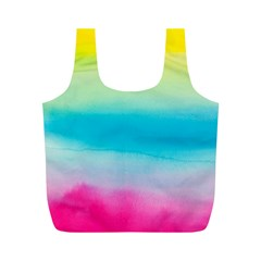 Watercolour Gradient Full Print Recycle Bags (M)