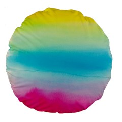 Watercolour Gradient Large 18  Premium Flano Round Cushions