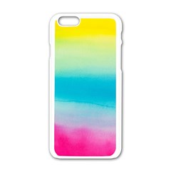 Watercolour Gradient Apple iPhone 6/6S White Enamel Case