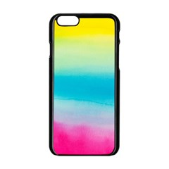 Watercolour Gradient Apple iPhone 6/6S Black Enamel Case