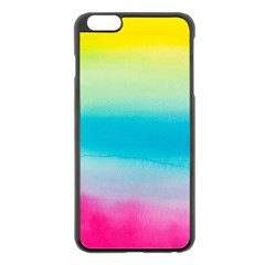 Watercolour Gradient Apple iPhone 6 Plus/6S Plus Black Enamel Case