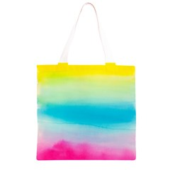Watercolour Gradient Grocery Light Tote Bag