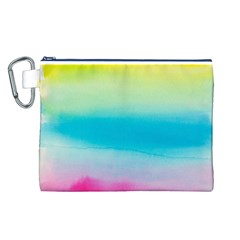 Watercolour Gradient Canvas Cosmetic Bag (L)
