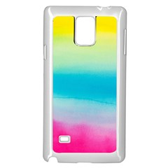 Watercolour Gradient Samsung Galaxy Note 4 Case (White)
