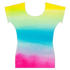 Watercolour Gradient Women s Cap Sleeve Top