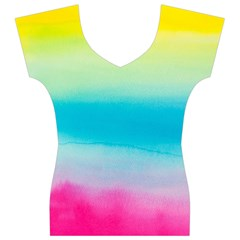 Watercolour Gradient Women s V-Neck Cap Sleeve Top