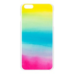 Watercolour Gradient Apple Seamless iPhone 6 Plus/6S Plus Case (Transparent)
