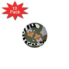 Chetah Animals 1  Mini Buttons (10 pack)