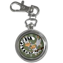 Chetah Animals Key Chain Watches