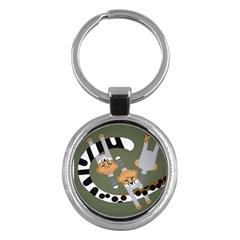 Chetah Animals Key Chains (Round)