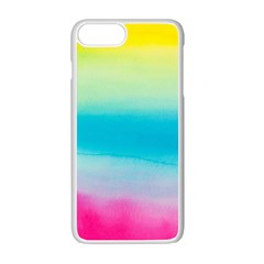 Watercolour Gradient Apple iPhone 7 Plus White Seamless Case