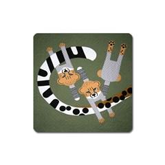 Chetah Animals Square Magnet