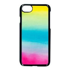 Watercolour Gradient Apple iPhone 7 Seamless Case (Black)