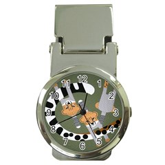 Chetah Animals Money Clip Watches
