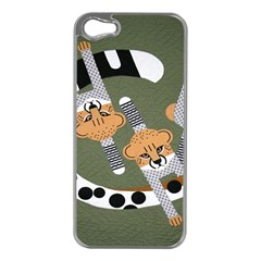Chetah Animals Apple iPhone 5 Case (Silver)