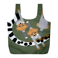 Chetah Animals Full Print Recycle Bags (L)