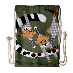 Chetah Animals Drawstring Bag (Large)
