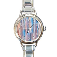 Vertical Abstract Contemporary Round Italian Charm Watch