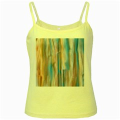Vertical Abstract Contemporary Yellow Spaghetti Tank