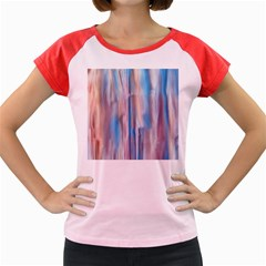 Vertical Abstract Contemporary Women s Cap Sleeve T-Shirt