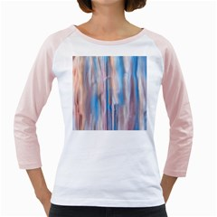Vertical Abstract Contemporary Girly Raglans